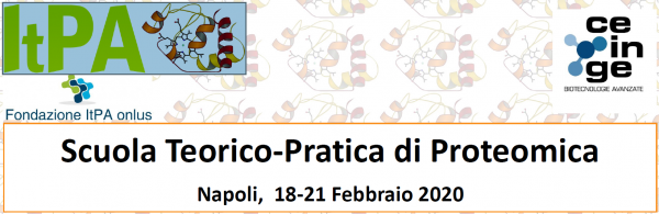 Scuola Teorico-Pratica di Proteomica ItPA c/o CEINGE– Biotecnologie Avanzate – Napoli, 18-21 Febbraio 2020 – DEADLINE 10-01-2020